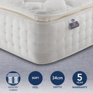 An Image of Silentnight Medium Firm 2800 Pocket Memory Pillowtop Mattress White