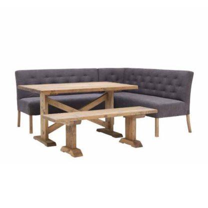 An Image of Medina Right Hand Facing Corner Bench with Newsham Table and Bench