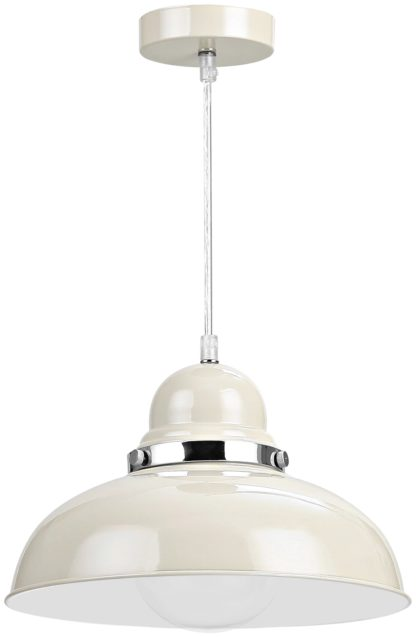 An Image of Vermont Light Clay and Chrome Pendant Light.