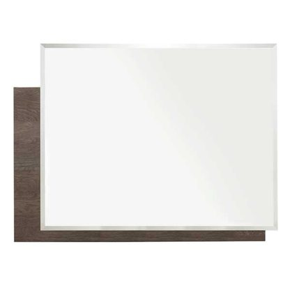 An Image of Lutyen Mirror Grey And Taupe