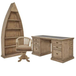 An Image of Verberie Reclaimed Wood Office Set