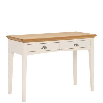 An Image of Carrington Dressing Table Ivory and Oak