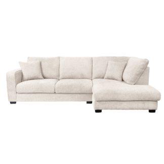 An Image of Carson Chunky Chenille Right Hand Corner Sofa Cream
