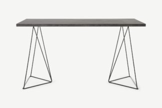 An Image of Solly Desk, Concrete Effect & Black Steel