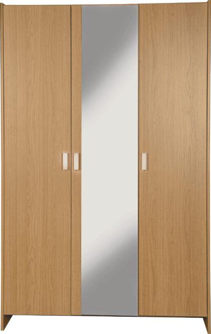An Image of Argos Home Capella 3 Door Mirrored Wardrobe - White