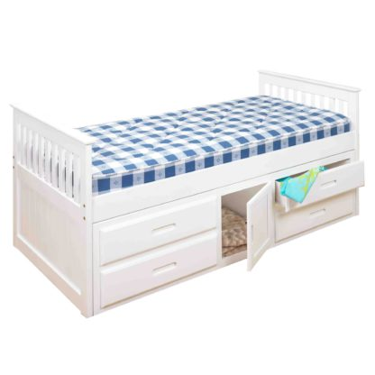 An Image of Captains White Storage Bedstead White