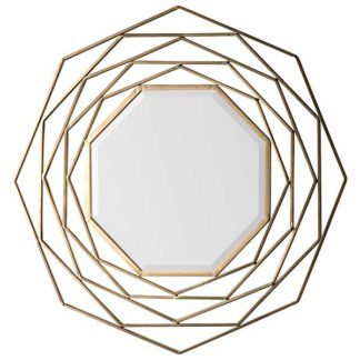 An Image of Bordered Mirror Gold