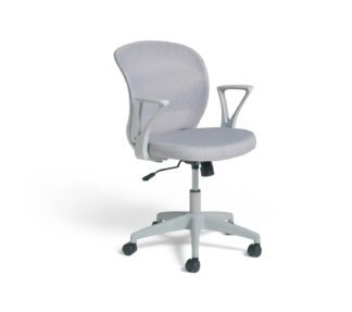 An Image of Habitat Beck Mesh Office Chair - Grey