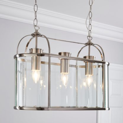 An Image of Hurricane 3 Light Diner Fitting Silver