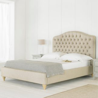 An Image of Balmoral Fabric Bed Frame Natural (Beige)