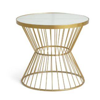 An Image of Habitat Huxley Coffee Table - Brass