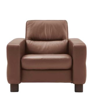 An Image of Stressless Wave Low Back Chair Leather
