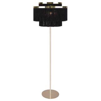 An Image of Black Tassel Floor Lamp Black and Gold