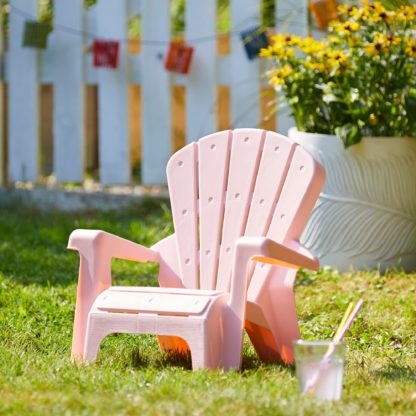 An Image of Kids Pink Fan Chair Pink