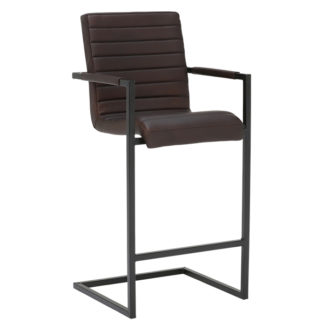 An Image of Brutus Leather Bar Stool
