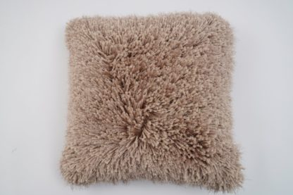 An Image of Argos Home Eyelash Luxe Cushion - Champagne