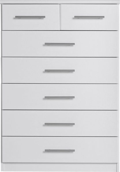 An Image of Argos Home Normandy 5+2 Drawer Chest of Drawers - White