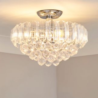 An Image of Venetian 2 Light Jewel Chrome Ceiling Fitting Silver