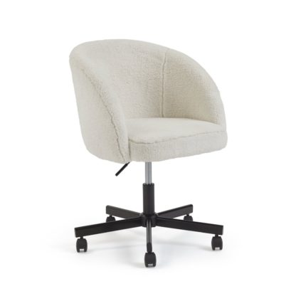 An Image of Habitat Sonny Fabric Office Chair - Black & White