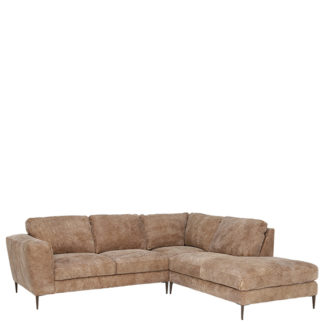 An Image of New Troy Right Hand Facing Leather Chaise Sofa