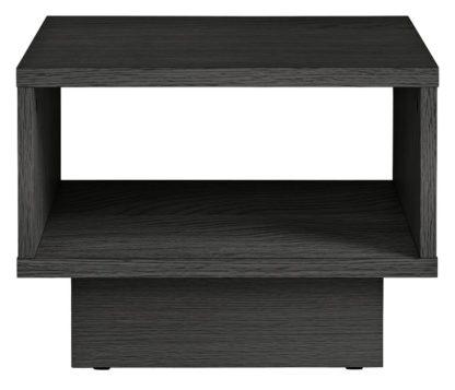 An Image of Habitat Cubes 1 Shelf End Table - Black