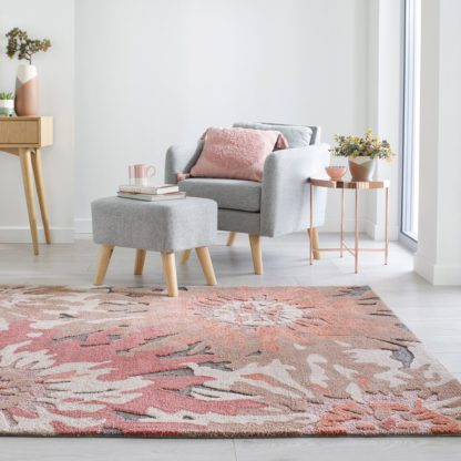 An Image of Soft Floral Rug Soft Floral Terracotta