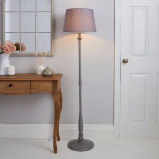 An Image of Tofty Grey Floor Lamp Grey