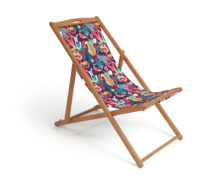 An Image of Habitat Wooden Deck Chair - Global Market