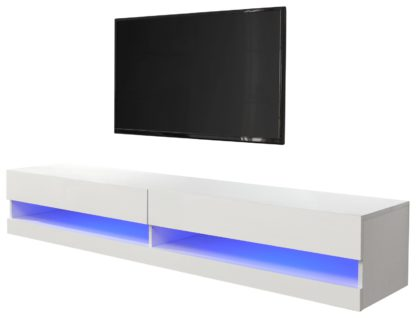 An Image of Galicia 120cm LED Wall TV Unit - White