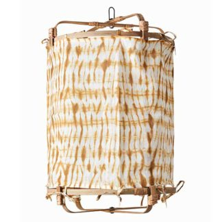 An Image of Hanging Tie Dye Decorative Shade Mustard