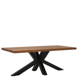 An Image of Navarro Star Dining Table Dark Oak