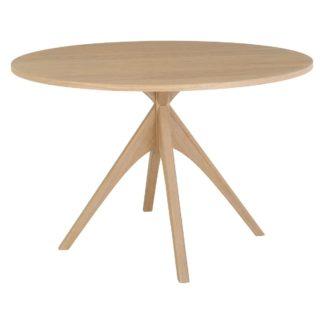 An Image of Habitat Austin Oak Round 4 Seater Dining Table