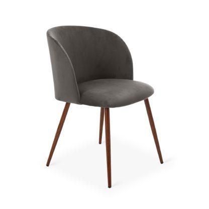 An Image of Celia Chair Grey Velvet Grey