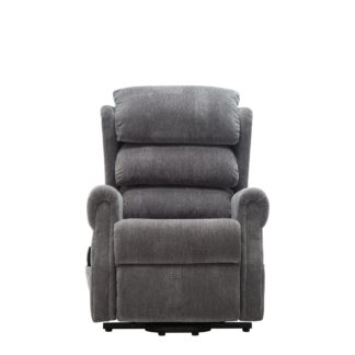 An Image of Agatha Rise and Recliner Chair Grey