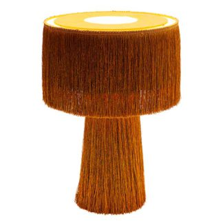 An Image of Fringed Table Lamp Orange