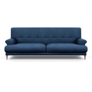 An Image of SCP Oscar 3 Seater Informal Sofa Capelo Linen-Cotton Ink Spot Walnut Feet