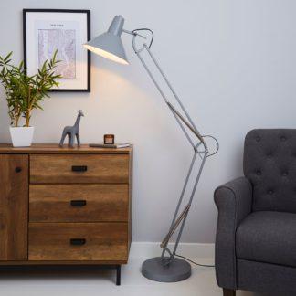 An Image of Carlton Grey Floor Lamp Grey