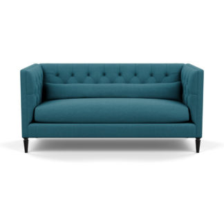 An Image of Heal's Balmoral 3 Seater Sofa Brushed Cotton Cadet Black Feet