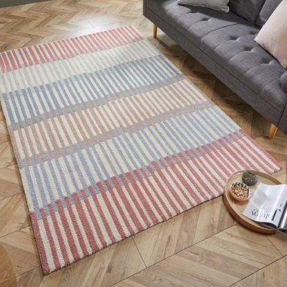An Image of Linear Stripe Rug Linear Stripe Mono