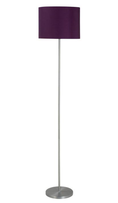 An Image of Argos Home Satin Stick Floor Lamp - Plum