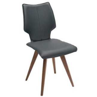 An Image of Tulip Dining Chair Apollo Leather
