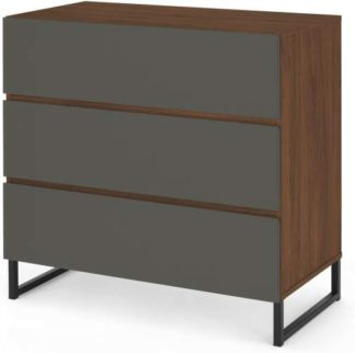 An Image of Hopkins Chest of Drawers, Grey & Walnut