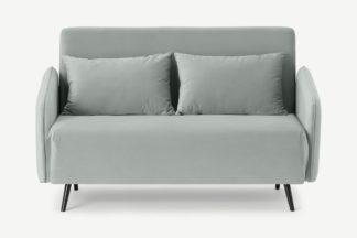 An Image of Hettie Small Sofa Bed, Ice Blue Velvet