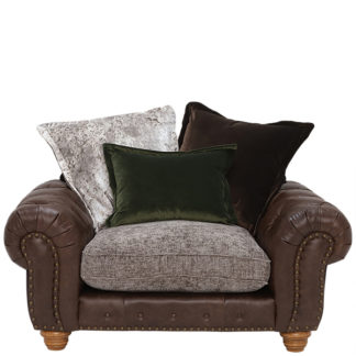 An Image of Melville Pillow Back Snuggle Chair Stock