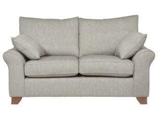 An Image of Habitat Gracie 2 Seater Fabric Sofa - Grey