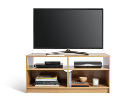 An Image of Habitat Maine TV Unit - Oak Effect