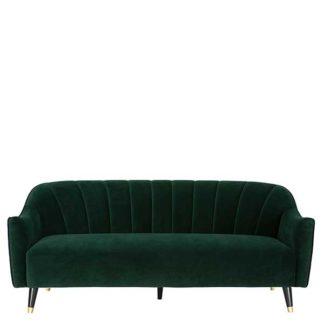 An Image of Lois 3 Seater Velvet Sofa
