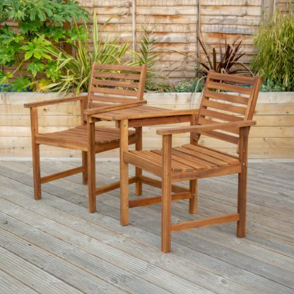 An Image of Acacia Wood Companion Seat Natural