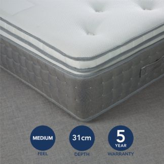 An Image of Fogarty Premium 3500 Pocket Sprung Mattress White