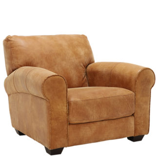 An Image of New Houston Leather Armchair